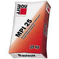 Baumit MPІ-25 W(белая), цементно-известковая штукатурная смесь для внутренних работ, 25 кг