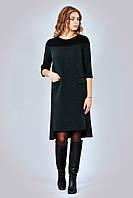Модное платье Марсала в casual-стиле р.S