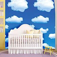 Фотообои на потолок в детскую Белые тучи