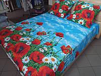 """Ткань для пошива постельного белья поплин Маки / """"Чарівна Ніч"""""""