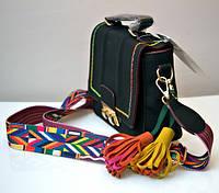 Стильная молодёжная женская сумка VTTV клатч чёрная
