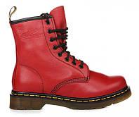"Ботинки женские Dr. Martens Zip Boots  CHERRY RED ""VEGAN""  (Доктор Мартенс)"