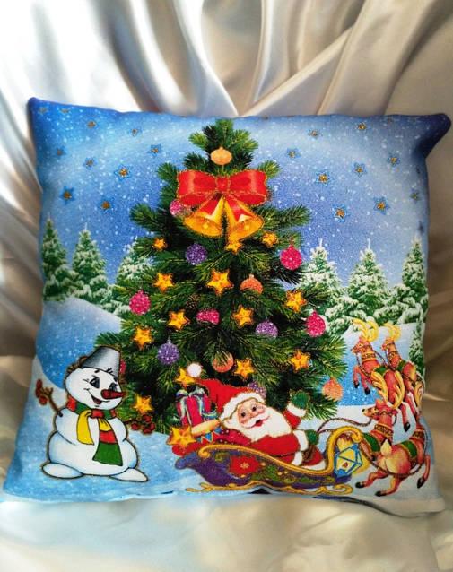 Новогодние подарки, сувениры, Подушка Светяшка Двухстороняя, фото 3