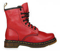 "Ботинки женские Dr. Martens Zip Boots  CHERRY RED ""VEGAN""  (Доктор Мартенс)  36"