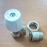 Комплект радиаторных кранов угловых ICMA 1/2 (подача обратка)