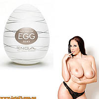 Мастурбатор Tenga EGG Silky + смазка! Приятней женской киски!