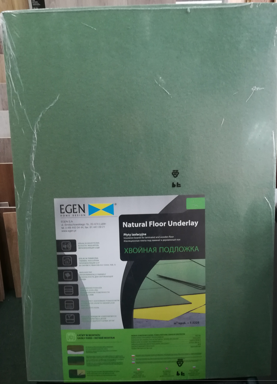 Тихий Ход Steico (Egen) подложка под ламинат и паркетную доску 3 мм