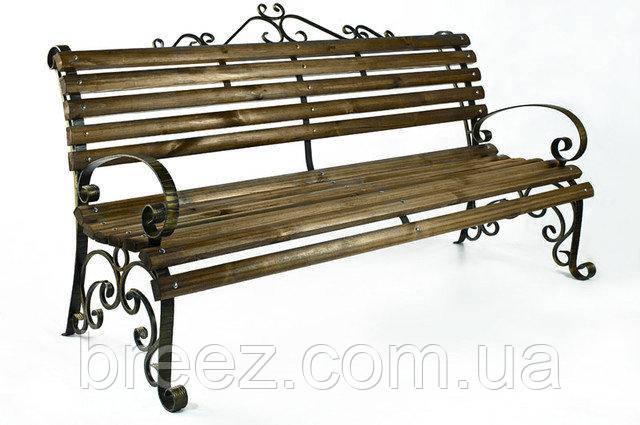 Скамейка кованая с подлокотниками Людмила 2 м, фото 2