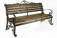 Скамейка кованая с подлокотниками Людмила L = 2000 mm