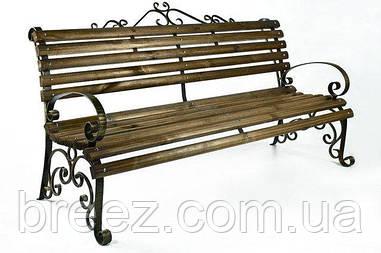 Скамейка кованая с подлокотниками Людмила 2 м