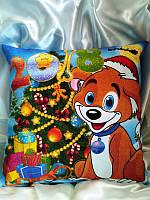 Новогодние подарки, сувениры, Подушка Светяшка Двухстороняя