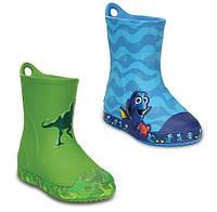 Сапоги резиновые детские Crocs Kids Bump It Graphic Rain Boot / дождевики с усиленным носком графика