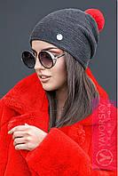 Шапка TM YAVORSKY модна жіноча з яскравим бубоном різні кольори SHY46, фото 1