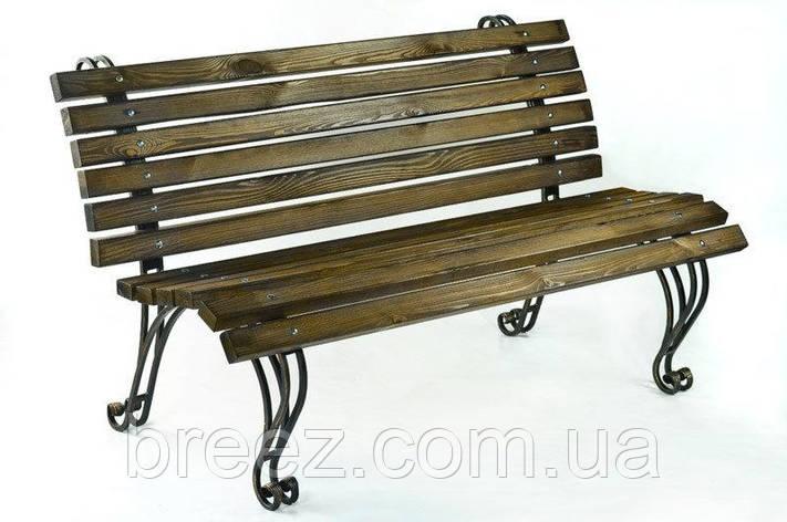 Кованая садовая скамейка Крещатик 1,5 м, фото 2