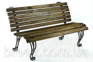 Кованая садовая скамейка Крещатик 1,5 м