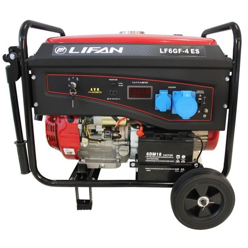 Генератор Lifan LF6GF-4ES газ/бензин