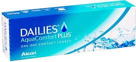 Контактные линзы Focus Dailies Aqua Comfort Plus, (однодневные), 90шт,Alcon