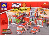 Конструктор Kazi Пожарная станция 8051, фото 1