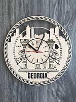 Дизайнерские часы на стену «Атланта, Джорджия», фото 1