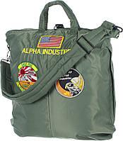 Оригинальная сумка Alpha Industries Helmet Bag With Patches (Olive Green)