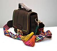 Стильная молодёжная женская сумка VTTV клатч коричневая