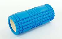 Массажный ролик для йоги, пилатеса и фитнеса SC-EVA LINES (голубой)