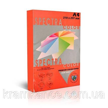 Бумага А4 75г/м2 цветная Spectra Color, Сyber hp Orange 371, фото 2