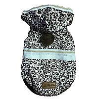 Курточка для собаки с капюшоном-Бежевый-M
