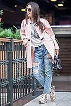 Женское осеннее пальто с застежкой в виде ремешка, фото 2