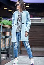Женское осеннее пальто с застежкой в виде ремешка, фото 3