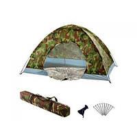 Четырехместная палатка туристическая Хаки HY-1130 2*2*1,35м R17758