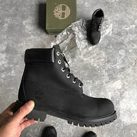 Ботинки в стиле Timberland 6 inch All Black мужские тимберленд (Без меха)