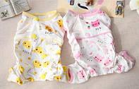 Пижама для собак Цыпленок-Желтый-XS