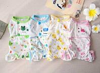 Пижама для собак Слоник-Голубой-M