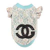 Кофточка для собаки Chanel-Голубой, фото 1