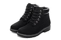 Ботинки женские Teambo black АКЦИЯ -30%