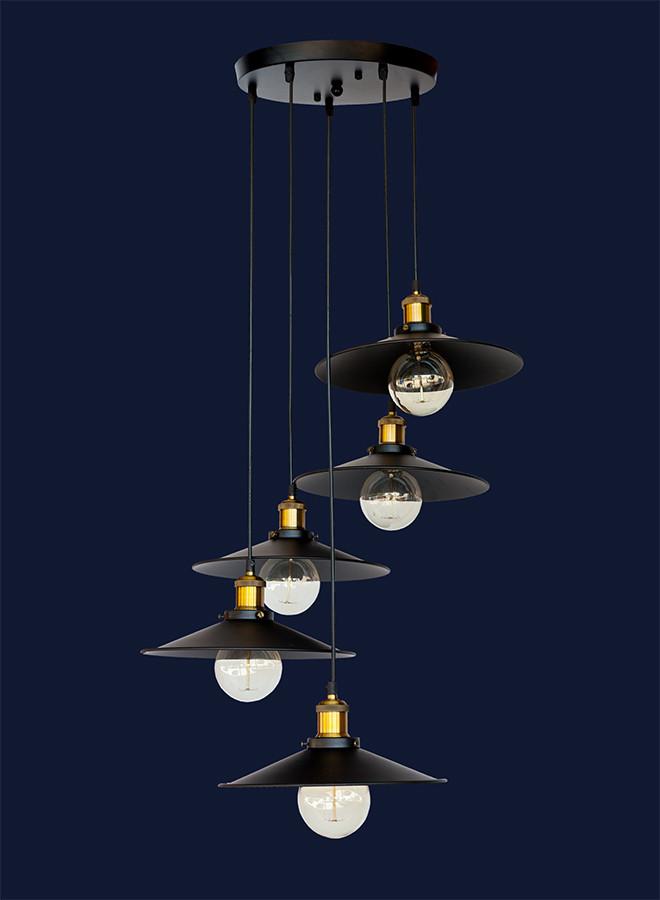 Подвесной светильник на пять плафонов