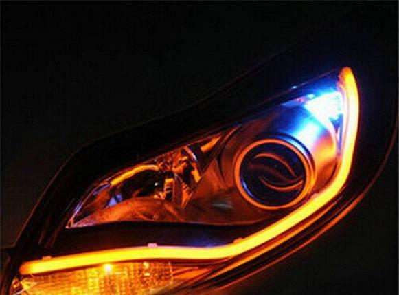 45 см гибкие дневные ходовые огни ЖЕЛТЫЕ (ДХО, ДРЛ, DRL). Цена за ПАРУ, фото 2