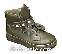 Ботинки женские на шнурках и липучке