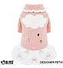 Платье свитер для собаки -Розовый-L