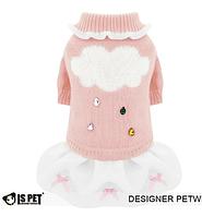 Платье свитер для собаки -Розовый-L, фото 1