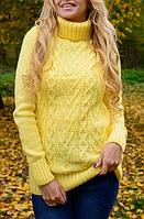 Свитер женский вязаный шерстяной теплый