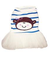 Платье для собаки Обезьянка-Голубой