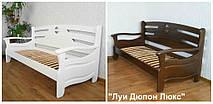 """Диван - кровать """"Луи Дюпон Люкс"""" (200*80), массив дерева - ольха, покрытие - """"белая эмаль"""""""