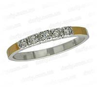 """Женское серебряное кольцо с золотыми пластинами """"Грация"""""""