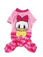Велюровый костюм для собаки  Duck-Розовый-М