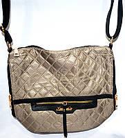 Женская сумка-мешок с двумя ручками 25*29 (хаки-стёган)