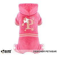 Велюровый костюм для собаки Princess-Розовый-XL