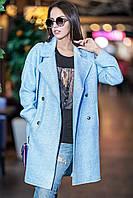 Женское демисезонное пальто на четырех пуговицах