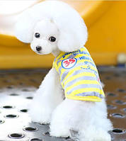Футболка для собаки Полоска-Желтый, фото 1